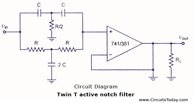 band stop filter - electronic circuits and diagram-electronics, Wiring circuit