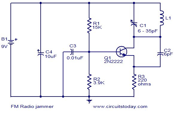 fm radio jammer electronic circuits and diagrams electronic rh circuitstoday com