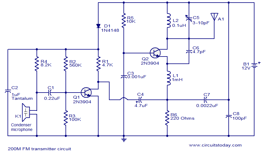 Wireless Battery Charger Circuit Diagram | Hobby Circuits Simple Wireless Fm Transmitter Circuit Diagram