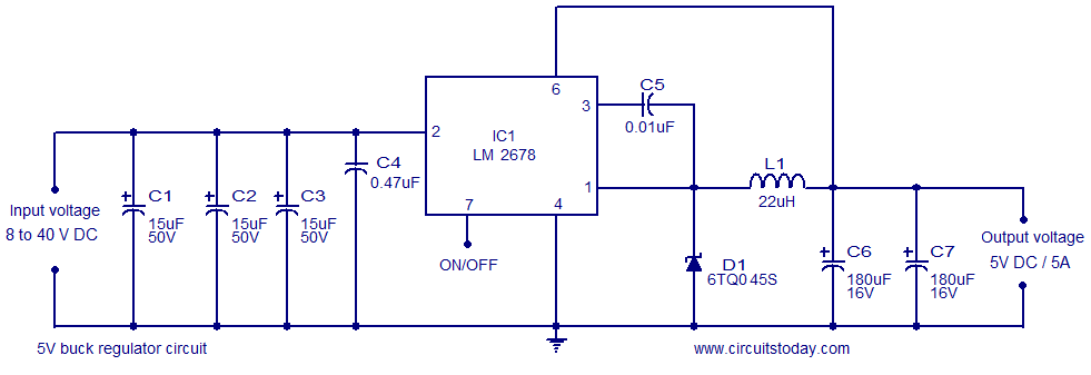 5V buck regulator circuit