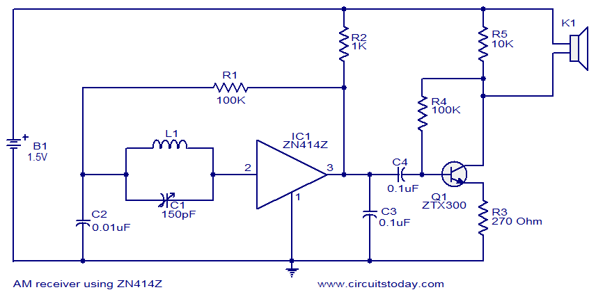 Superb Am Receiver Using Zn414 Electronic Circuits And Diagrams Geral Blikvitt Wiring Digital Resources Geralblikvittorg