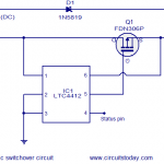 automatic changeover switch circuit diagram pdf