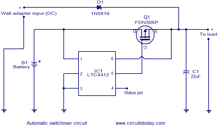 Automatic changeover circuitCircuitsToday