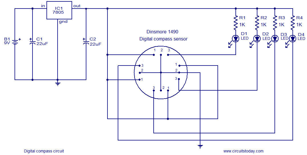 digital compass circuit