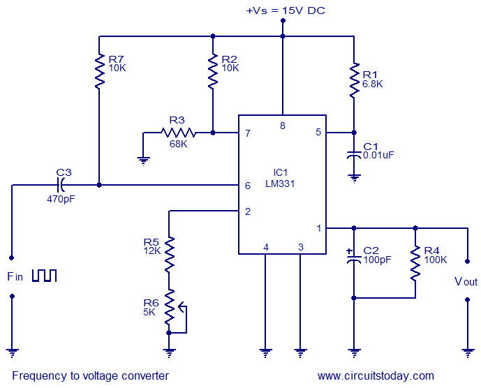 frequency to voltage circuit schematic enthusiast wiring diagrams u2022 rh rasalibre co Ring Oscillator Circuit Frequency to Voltage Converter Frequency to Voltage Converter Chip