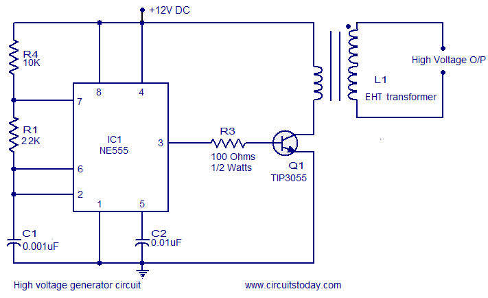 high voltage generator circuit electronic circuits and diagram high voltage generator circuit