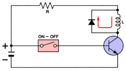 De-spiking diode relays