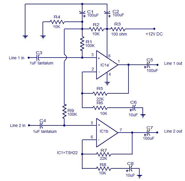 audio line driver circuit