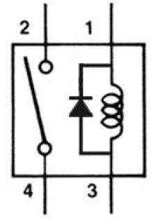 voltage suppression relay using diode