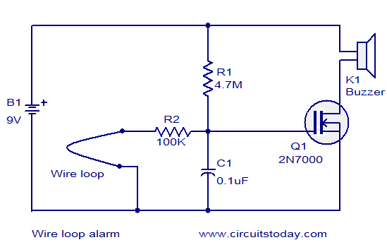 Wire loop alarm - Electronic Circuits and Diagrams-Electronic ...