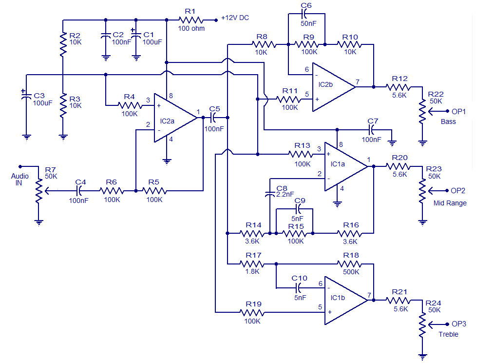 3 way active cross- over network - Electronic Circuits and Diagrams ...