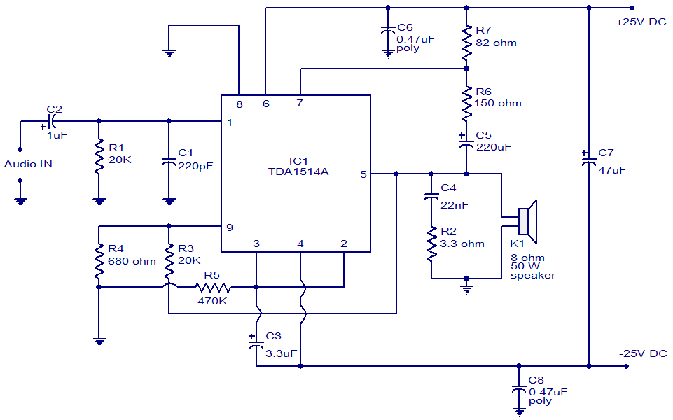 40w Amplifier Using Tda1514