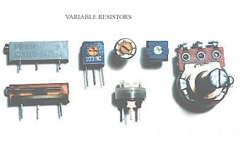 Types of Variable resistors