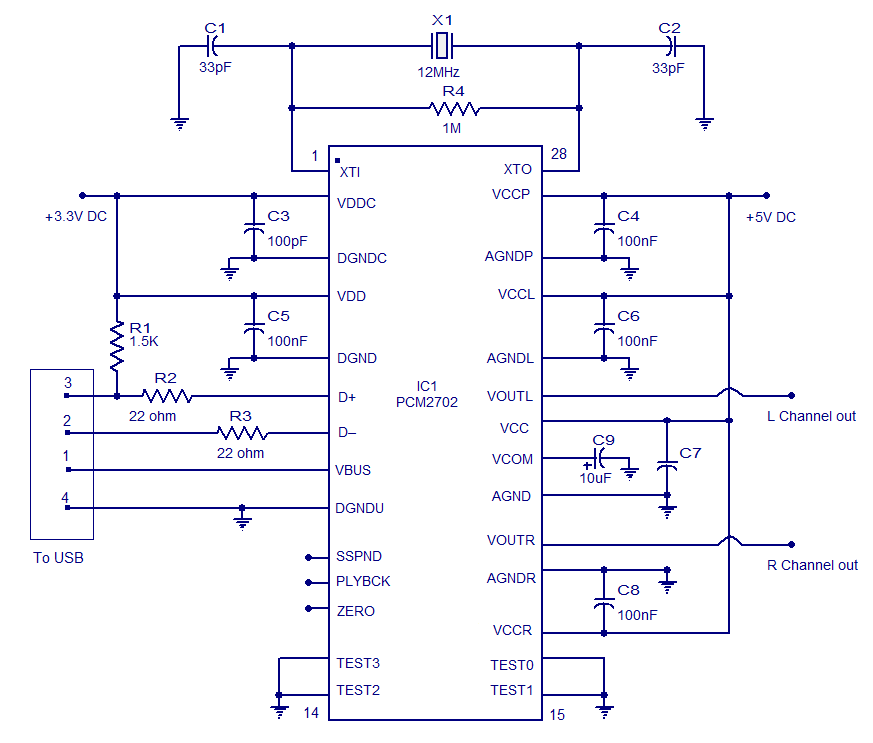 Simple Usb Player Circuit likewise Cm B together with Videoconnectors additionally Pcm Front moreover Pcm Schematic. on usb sound card circuit diagram