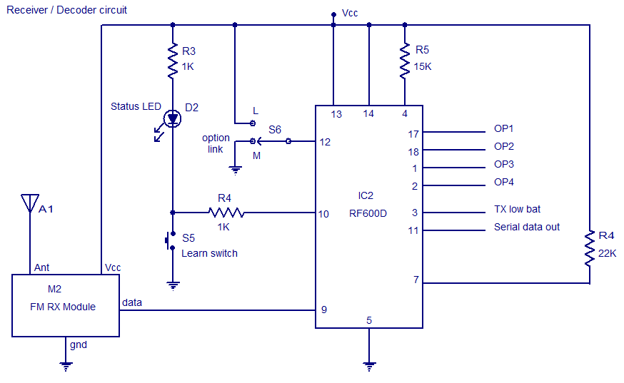 fm remote encoder decoder electronic circuits and diagrams rh circuitstoday com decoder circuit diagram decoder circuit diagram and truth table