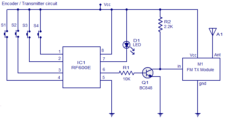 FM remote encoder circuit