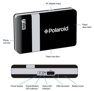 Mobile ink-free photo printer specifications