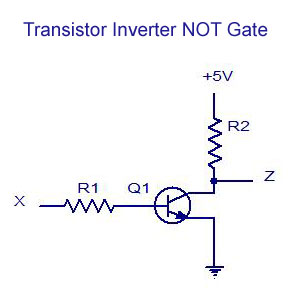 Transistor Inverter NOT Gate