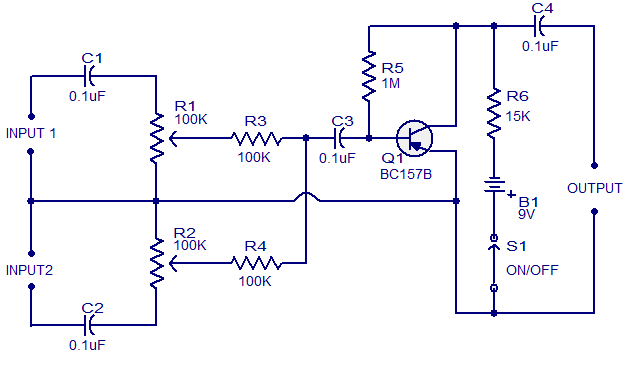 low cost mic mixer circuit