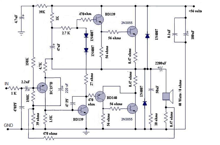 motional feed back amplifier circuit
