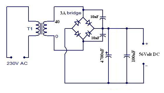 power supply for motional feed back amplifier