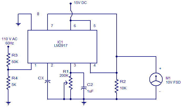 capacitance meter using LM2917