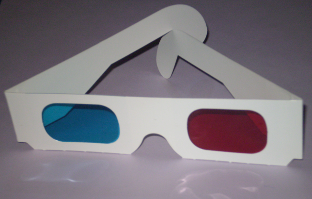 Anaglyph 3-D Glass
