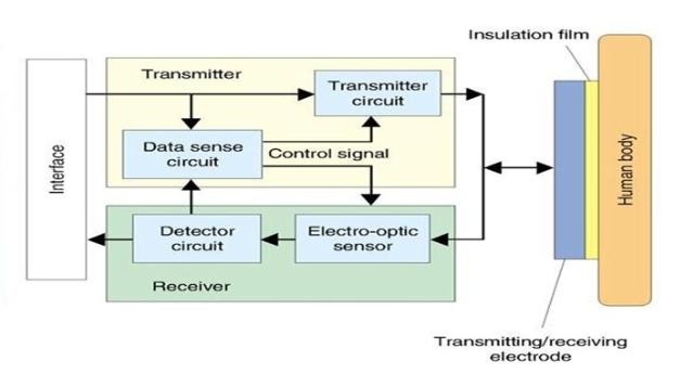 RedTacton Transceiver Block Diagram