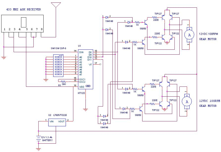 Remote Operated Spy Robot Circuit1 electric toy car wiring diagram diagram wiring diagrams for diy rc airplane receiver wiring diagram at fashall.co