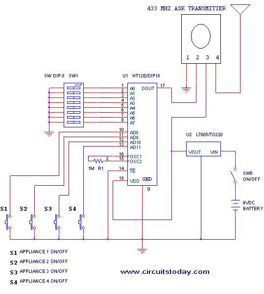 Remote or Transmitter Circuit