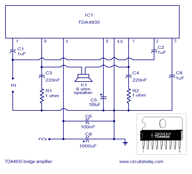 ...mvp speech. connected such that came with tda. audio amplifier diagram.