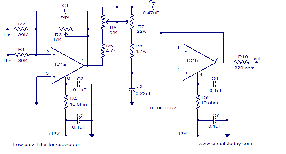 low pass filter for subwoofer electronic circuits and diagrams subwoofer installation diagram low pass filter for subwoofer electronic circuits and diagrams electronic projects and design