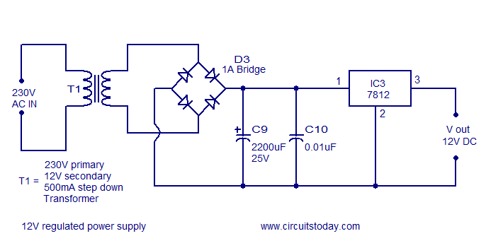 12V regulated single supply