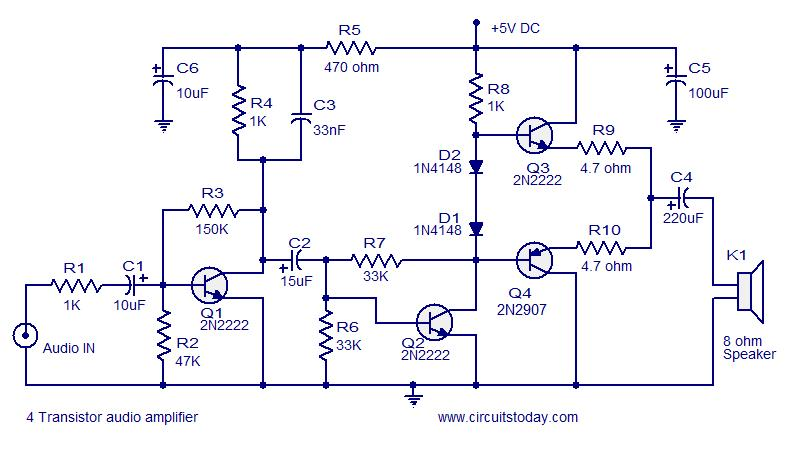 transistor amplifier circuits class ab amplifier circuit