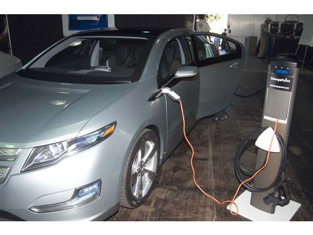 Electric charging of a Chevy Volt