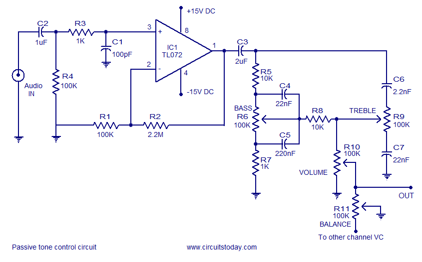Cool A Quality Tone Control Circuit Using Opamp And Few Passive Components Wiring Digital Resources Anistprontobusorg