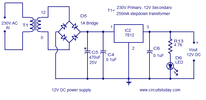 12V DC supply
