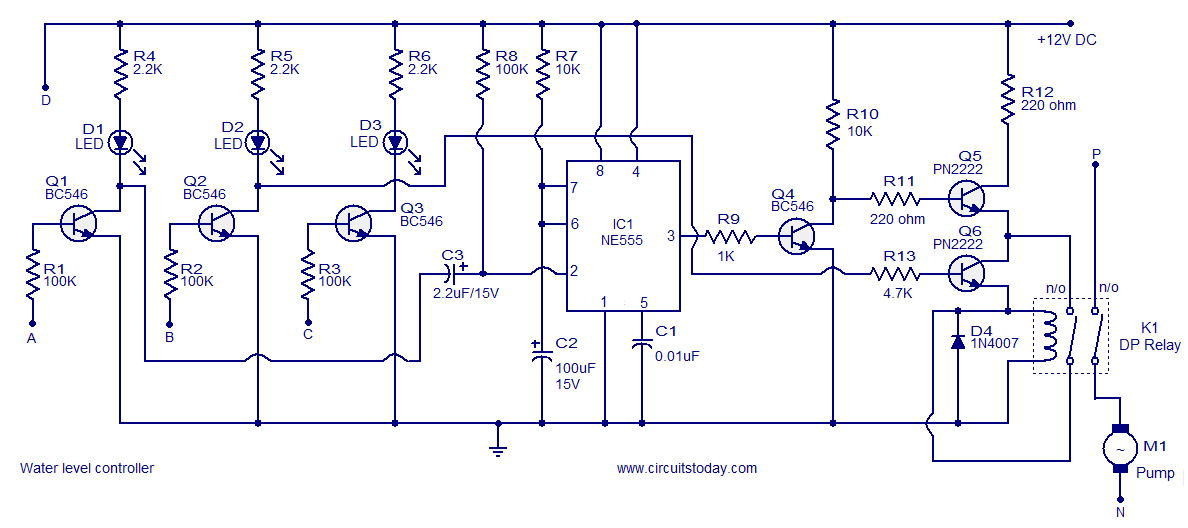 Water Level Controller Circuit Diagram: Liquid Level Switch Wiring Diagram At Gundyle.co