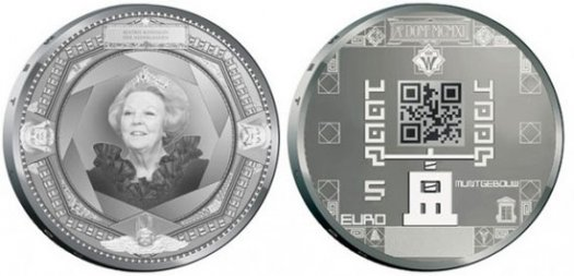 Dutch Coins with QR Codes