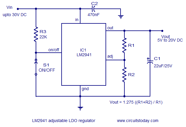practical LDO regulator circuit