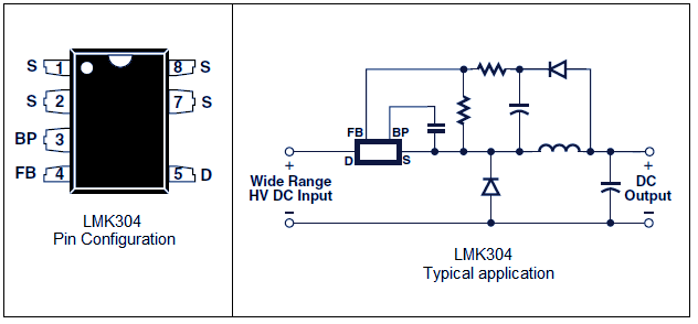 12V/120mA switch mode power supply using LNK304