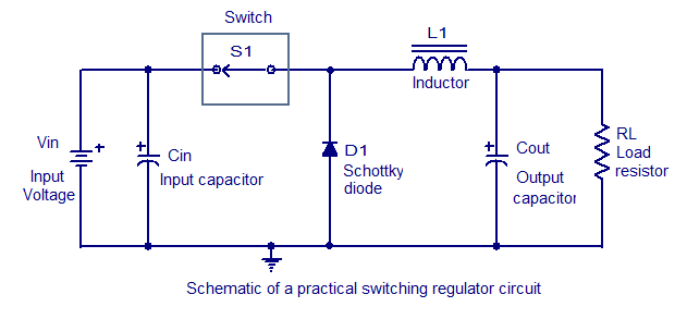 schematic of a working regulator circuit