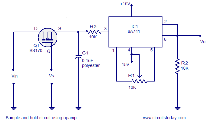 sanple and hold circuit using opamp