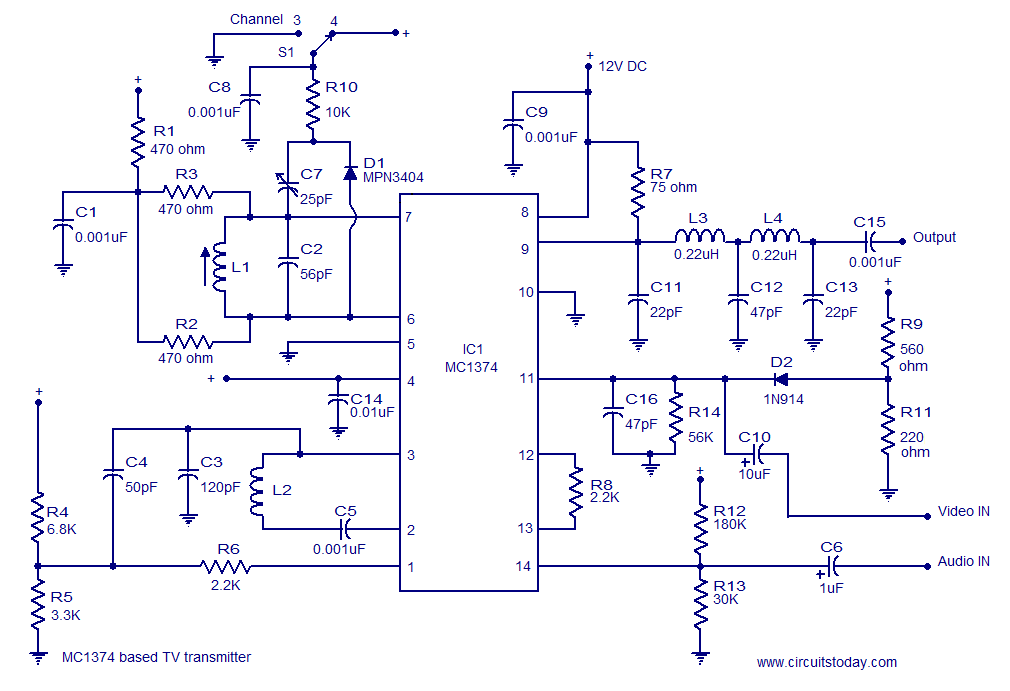 TV modulator circuit