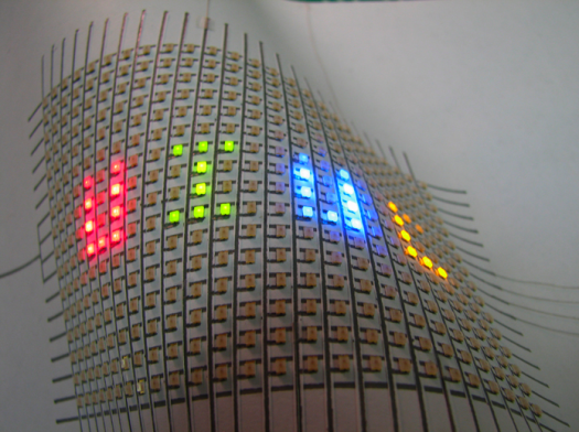 LED Display Using Silver Ink Pen