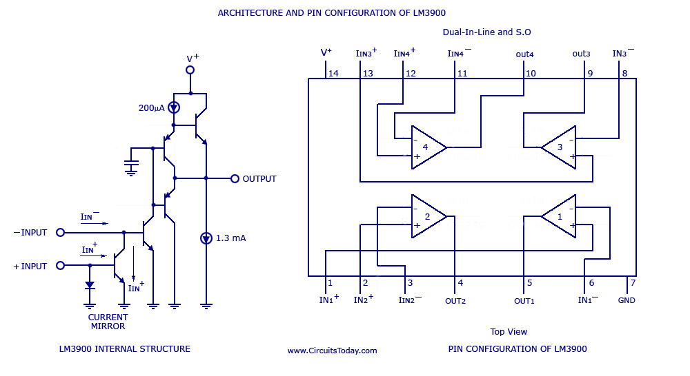 Lm3900 pin configuration
