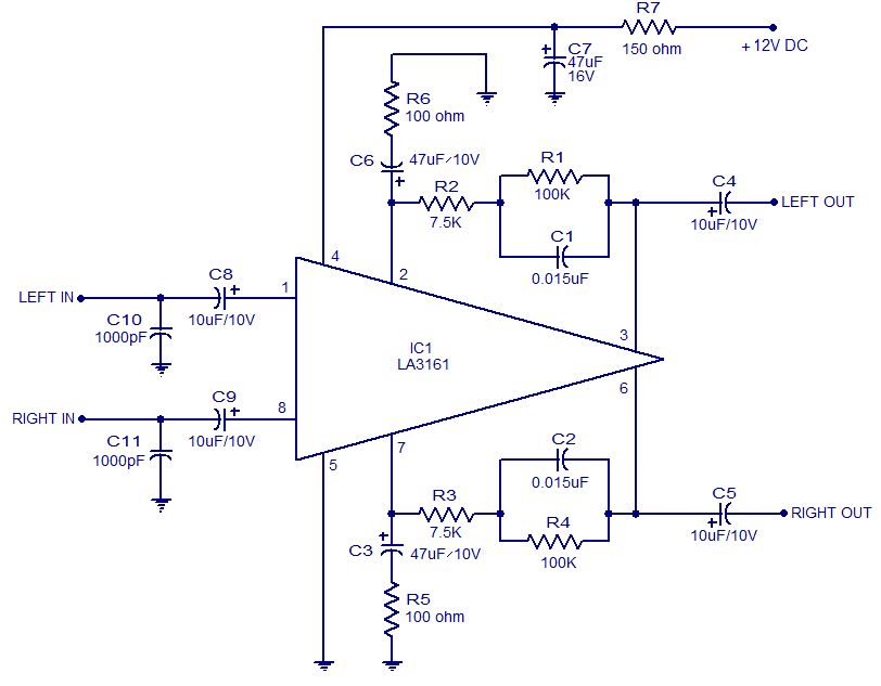 12v Preamp Circuit Daigram - Circuit Diagram Images