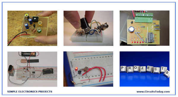 Simple electronics projects and small basic hobby projects/circuits