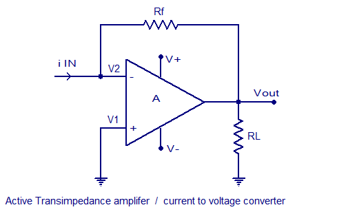 active current to voltage converter circuit