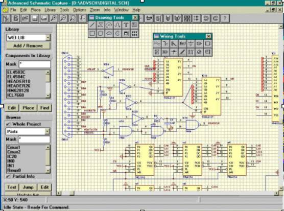 electronic schematic drawing software